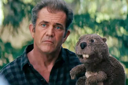 Mel Gibson in the trailer for his latest flick, 'The Beaver.'